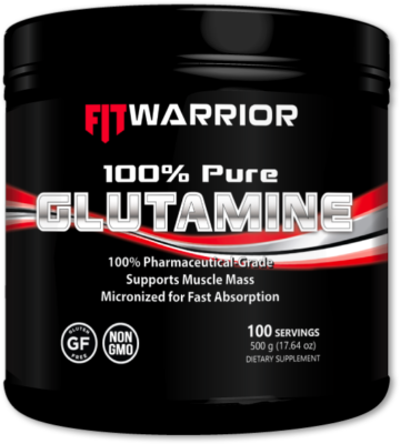 FIT WARRIOR Glutamine, 100% Pure L-Glutamine