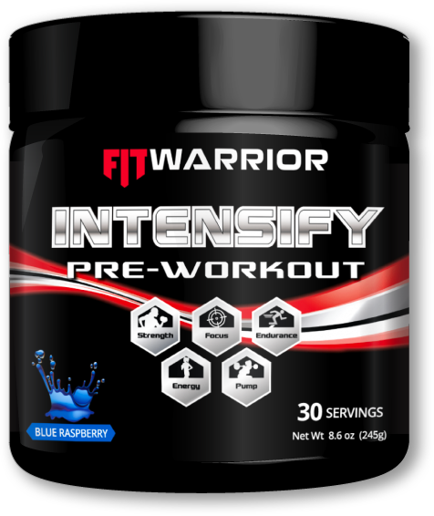 INTENSFIT WARRIOR INTENSIFY Pre-workout,, Blue Raspberry