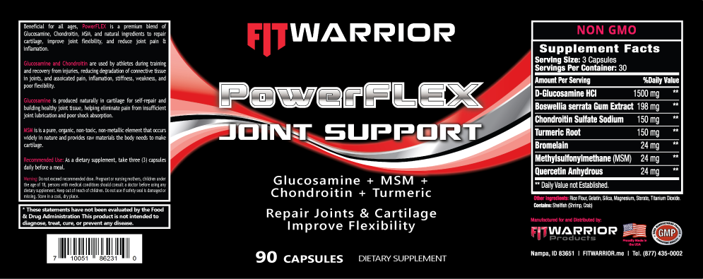 FIT Warrior PowerFLEX Joint Support label
