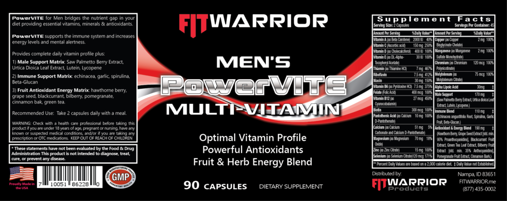 Men's PowerVITE label
