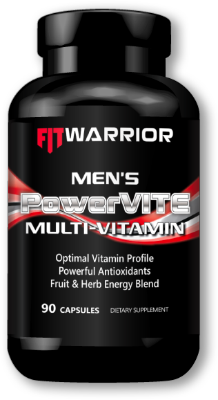 FIT WARRIOR Mens PowerVITE Multi-vitamin