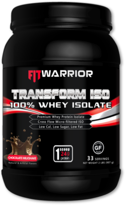 FIT WARRIOR TRANSFORM ISO Protein Isolate, Chocolate Milkshake
