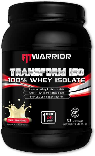 FIT WARRIOR TRANSFORM ISO Protein Isolate, Vanilla Milkshake