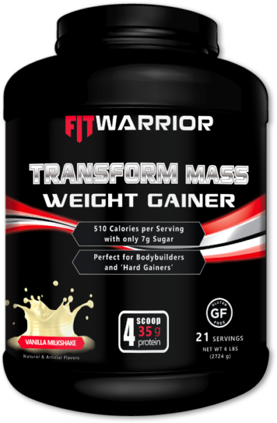 FIT WARRIOR TRANSFORM Mass Gainer Whey Protein, Vanilla