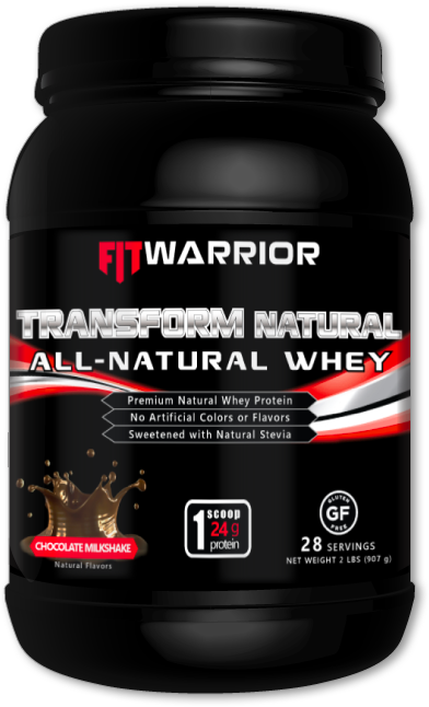 FIT WARRIOR TRANSFORM NATURAL Whey Protein, Chocolate