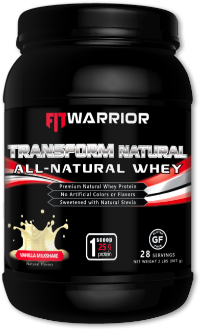 FIT WARRIOR TRANSFORM NATURAL Whey Protein, Vanilla