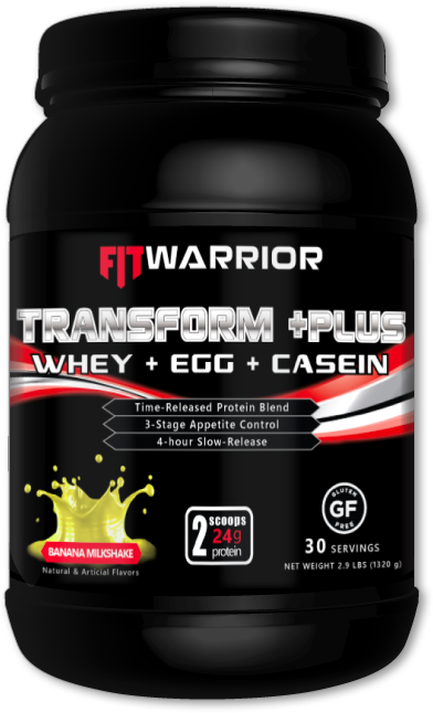 FIT WARRIOR TRANSFORM PLUS Protein, Banana Milkshake