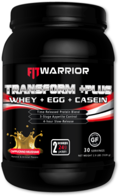 FIT WARRIOR TRANSFORM PLUS Protein, Cappuccino Milkshake