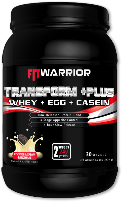 FIT Warrior TRANSFORM PLUS Protein, Cookies & Cream Milkshake