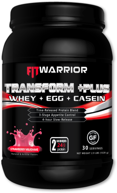 FIT WARRIOR TRANSFORM PLUS Protein, Strawberry Milkshake