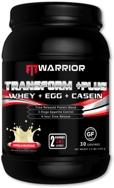 FIT WARRIOR TRANSFORM PLUS Protein, Vanilla Milkshake