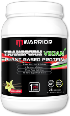 FIT WARRIOR TRANSFORM VEGAN Protein, Vanilla