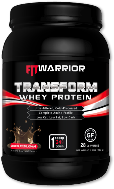 FIT WARRIOR TRANSFORM Whey Protein, Chocolate Milkshake