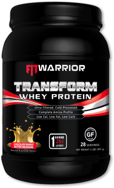 FIT WARRIOR TRANSFORM Whey Protein, Chocolate Peanut Butter Milkshake