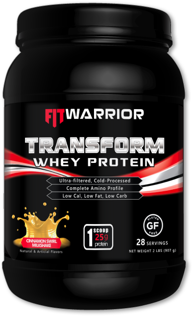 FIT WARRIOR TRANSFORM Whey Protein, Cinnamon Swirl Milkshake