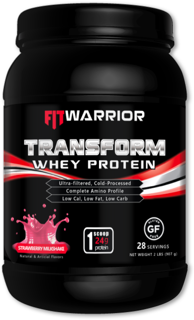 FIT WARRIOR TRANSFORM Whey Protein, Strawberry Milkshake