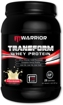 FIT WARRIOR TRANSFORM Whey Protein, Vanilla Milkshake