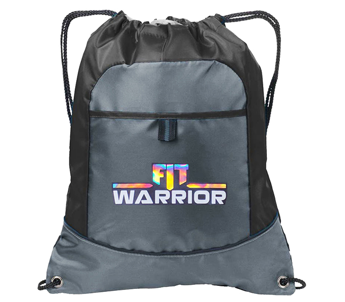FIT Warrior Gray and Black Cinch Pack Backpack