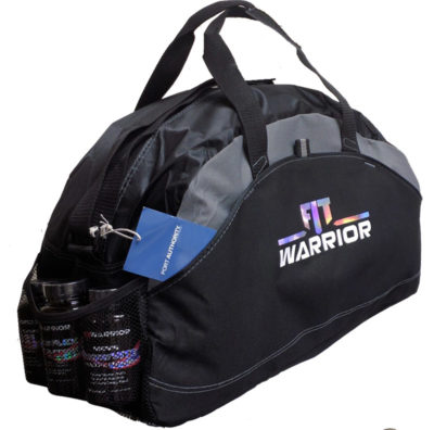 FIT Warrior Gym Duffle - medium black/gray
