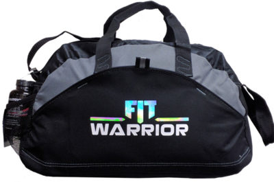 FIT Warrior Gym Duffle - small black/gray