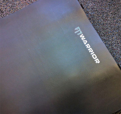 "FIT Warrior Workout Mat 1/2"" foam rubber"