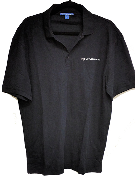 FIT WARRIOR Polo, Black